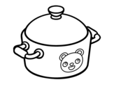 A cooking pot coloring page
