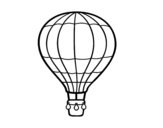 A hot air balloon coloring page