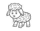 A little lamb coloring page
