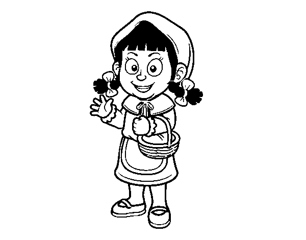 A little red riding hood coloring page