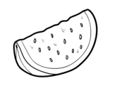 A piece of watermelon coloring page