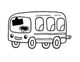 A school bus coloring page