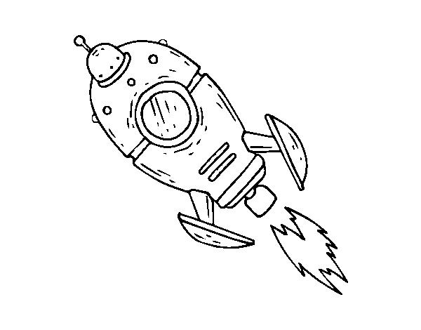 A Space Rocket coloring page - Coloringcrew.com