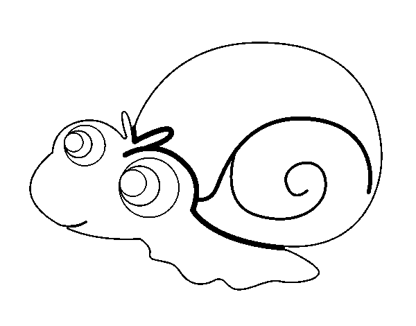 Baby snail coloring page