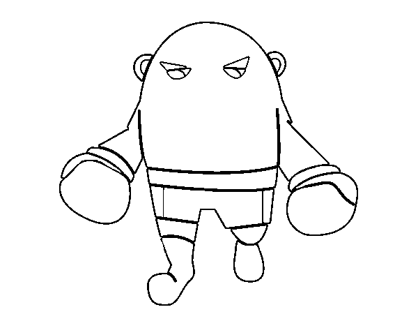 Bald boxer coloring page