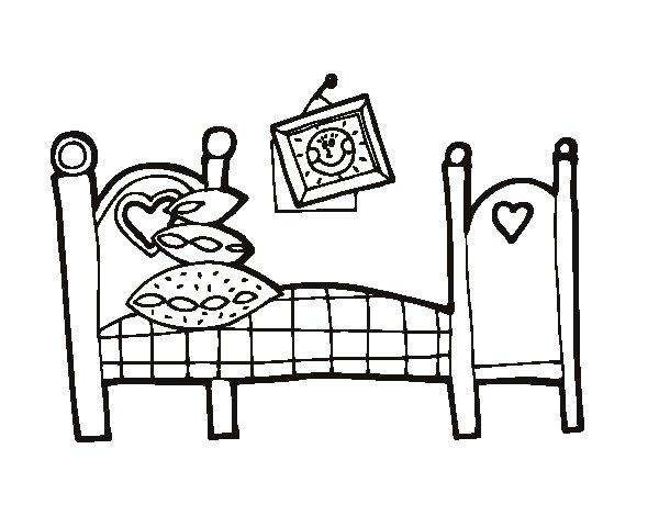 Bedroom coloring page - Coloringcrew.com