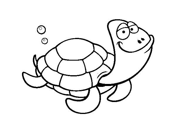 Big-headed turtle coloring page