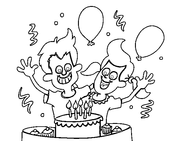 Brothers birthday coloring page
