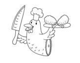 Chicken meat coloring page