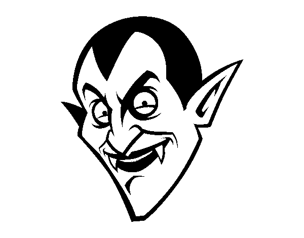 Count Dracula head  coloring page