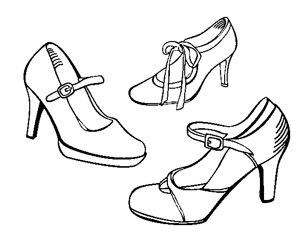 Court shoes coloring page