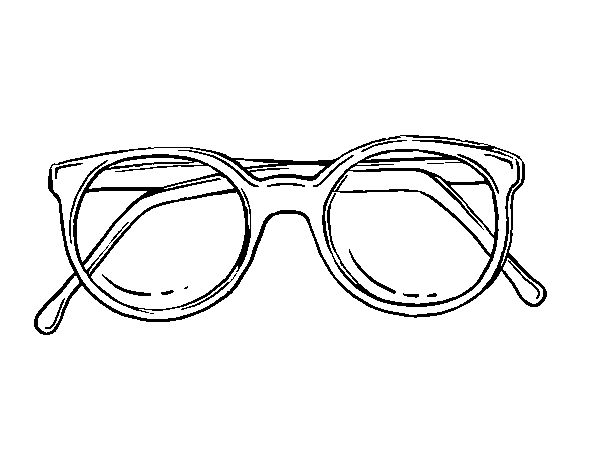 Dough round glasses coloring page