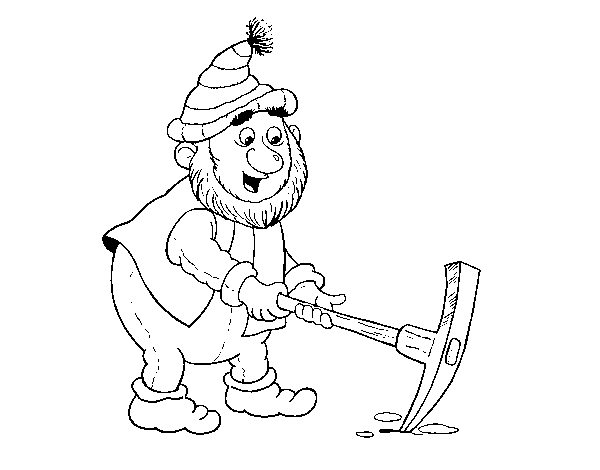 Dwarf with beak coloring page