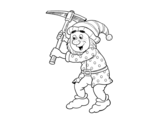 Dwarf worker coloring page