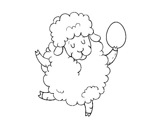Easter sheep coloring page