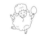 Dibujo de Easter sheep