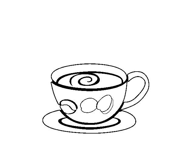 Espresso coffee coloring page
