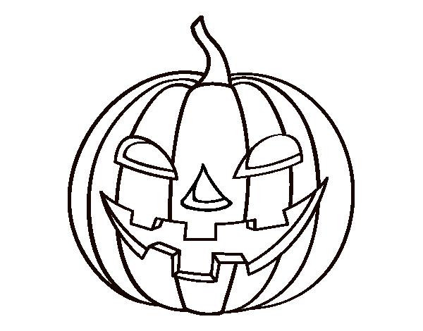 Evil pumpkin coloring page - Coloringcrew.com