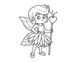 Fairy princess of hearts coloring page