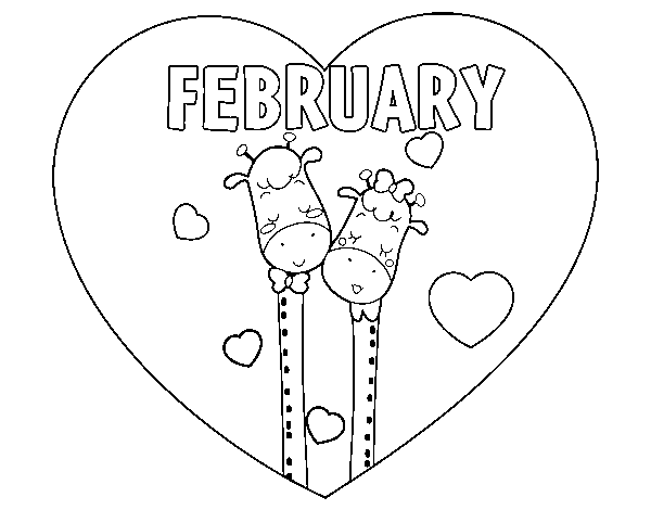 February coloring page