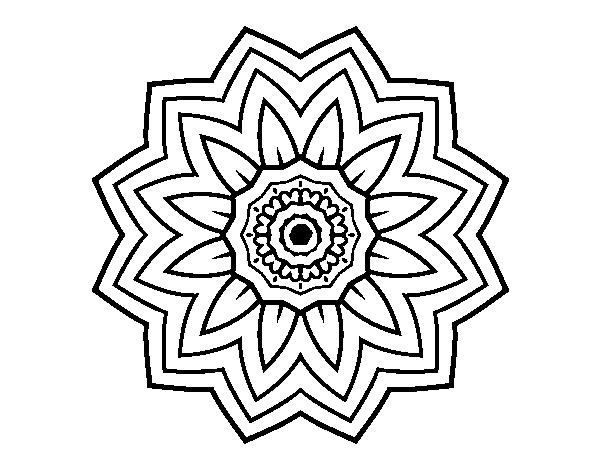Flower Mandala Of Sunflower Coloring Page Coloringcrew Com