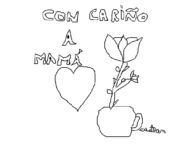 For mum coloring page