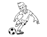 Forward Football coloring page