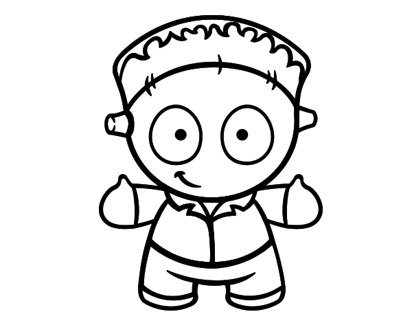 Frankenstein doll coloring page - Coloringcrew.com