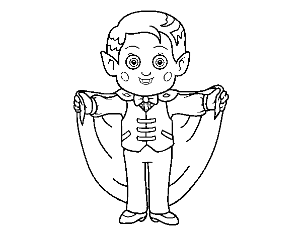 Friendly vampire  coloring page
