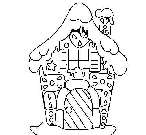 Gingerbread house coloring page - Coloringcrew.com on