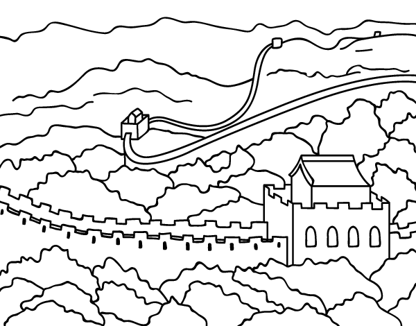 Great Wall of China coloring page - Coloringcrew.com