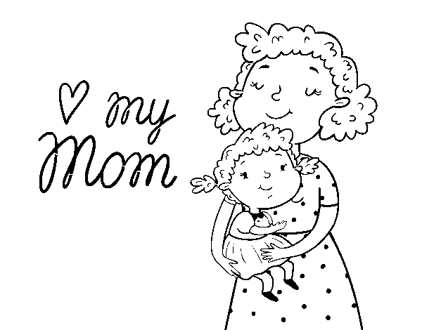 I love my mom coloring page