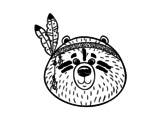 Indian bear coloring page