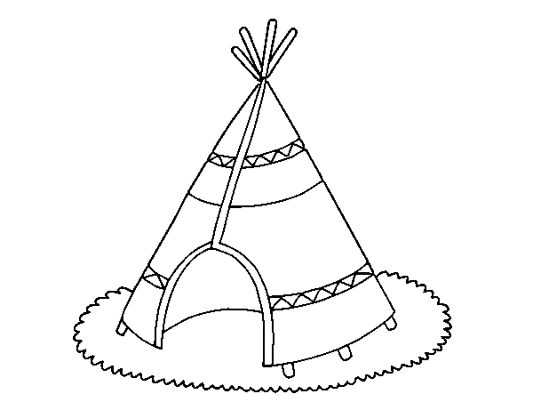 Indian cottage coloring page