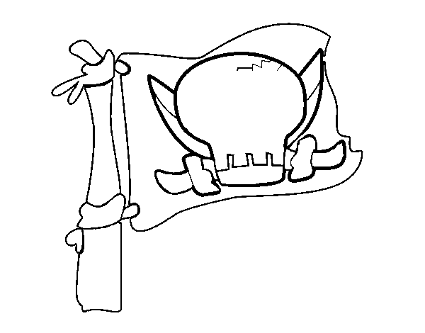 Jolly Roger coloring page