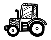 Lamboghini tractor coloring page