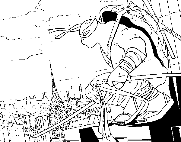Leonardo Ninja Turtles Coloring Page