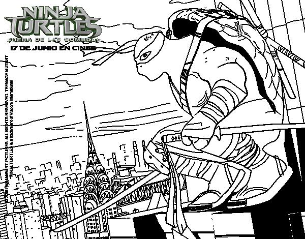 Leonardo Ninja Turtles coloring page - Coloringcrew.com