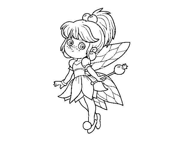 Magical forest fairy forest coloring page