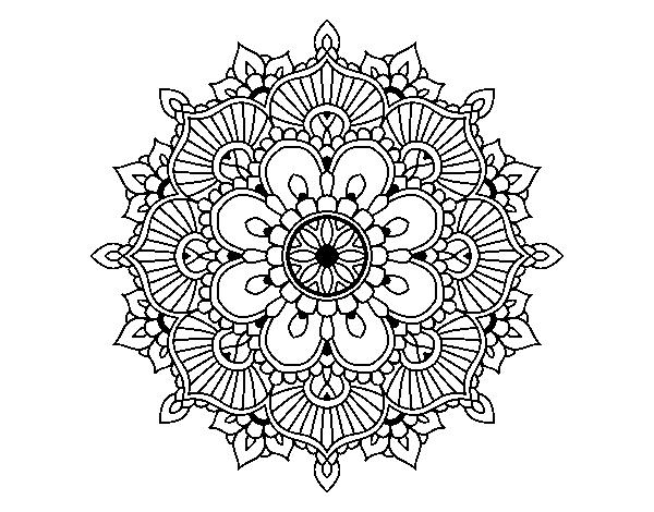 Mandala floral flash coloring page - Coloringcrew.com