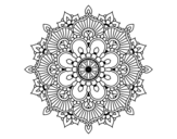 Mandala floral flash coloring page