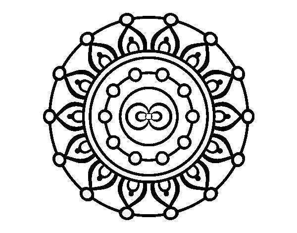 Mandala meditation coloring page - Coloringcrew.com