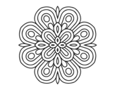 Mandala visual art coloring page