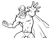Masked superhero coloring page