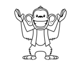Monkey Abu coloring page
