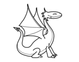 Mythological dragon coloring page