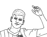 Neymar greeting coloring page
