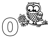 O of Owl coloring page