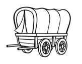 Old west car coloring page