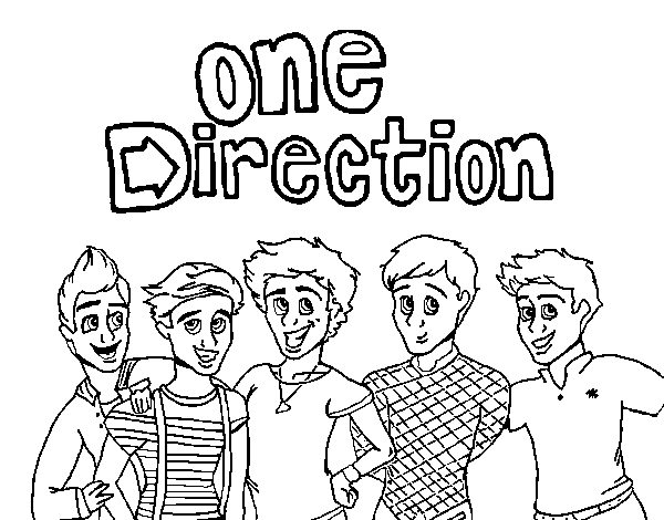One Direction 3 coloring page
